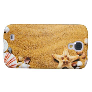 Beach Themed Shells on the beach samsung galaxy s4 cover