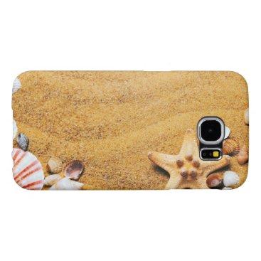 Beach Themed Shells on the beach samsung galaxy s6 case