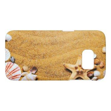 Beach Themed Shells on the beach samsung galaxy s7 case