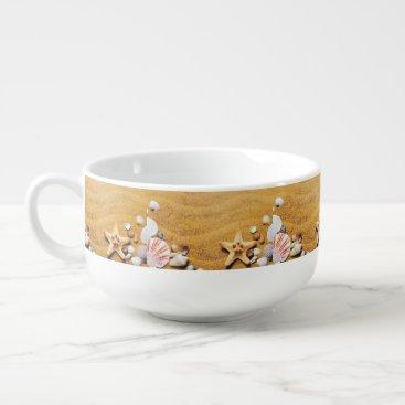 Beach Themed Shells on the beach soup mug