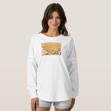 Beach Themed Shells on the beach spirit jersey