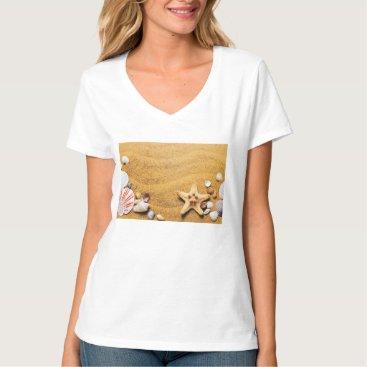 Beach Themed Shells on the beach T-Shirt
