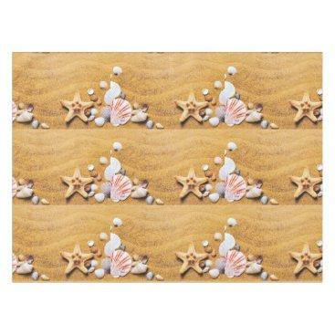Beach Themed Shells on the beach tablecloth