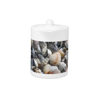 shells on the beach teapot