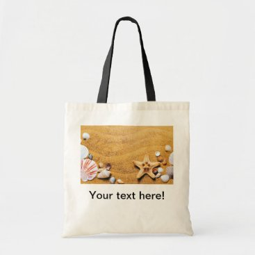 Beach Themed Shells on the beach tote bag