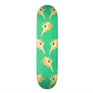 Shells pattern custom skateboard
