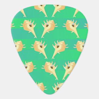 Shells pattern guitar pick