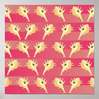 Shells pattern poster