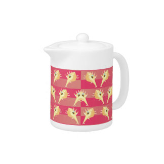 Shells pattern teapot