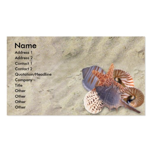Shells Profile Card Double-Sided Standard Business Cards (Pack Of 100)