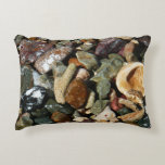 Shells, Rocks and Coral Beach Nature Theme Accent Pillow