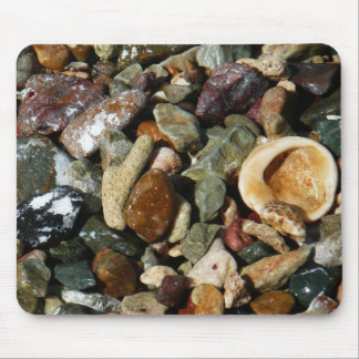 Shells, Rocks and Coral Beach Nature Theme Mouse Pad