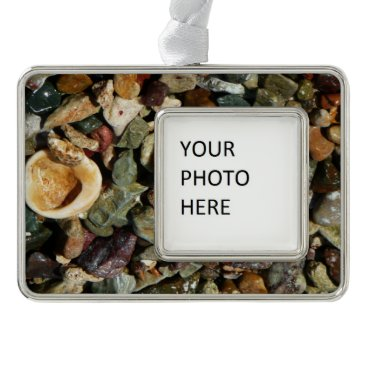 Beach Themed Shells, Rocks and Coral Beach Nature Theme Ornament
