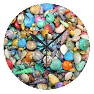 Shells, Shells, Shells Wall Clock