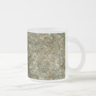 Shells Under Rippling Water Beach Nature Photo Frosted Glass Coffee Mug