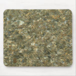 Shells Under Rippling Water Beach Pattern Mouse Pad