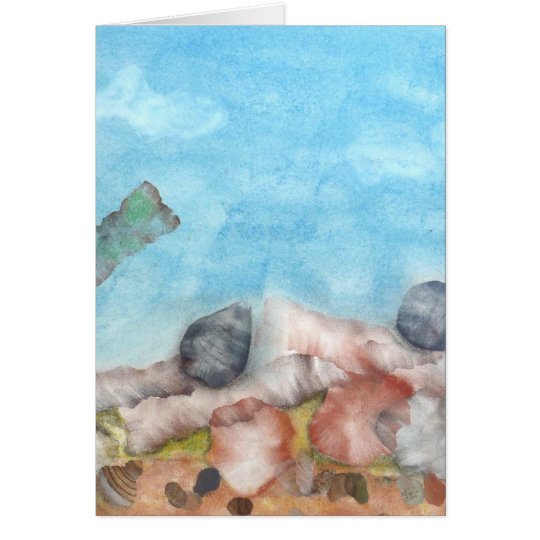 Shells Under The Sea. Card