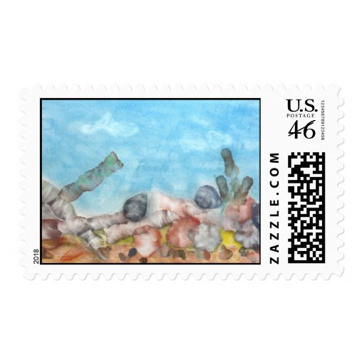 Shells Under The Sea. Postage Stamps