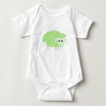 Shelly Sheep baby bodysuit - green