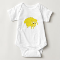 Shelly Sheep baby bodysuit - yellow