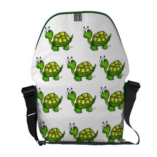 Shelly The Turtle Messenger Bag