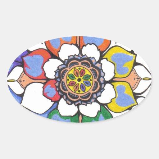 shellzmandala oval sticker