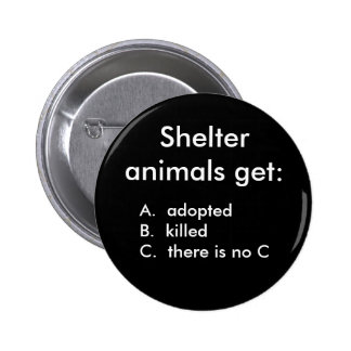Shelter animals get:, A.  adoptedB.  kille... Button