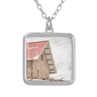 Shelter at Chimborazo Mountain in Ecuador Silver Plated Necklace