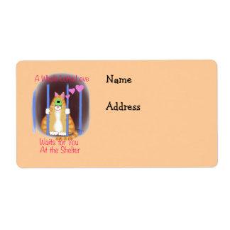Shelter Cat Label