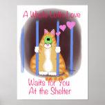 Shelter Cat Print