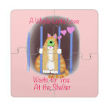 Shelter Cat Puzzle Coaster
