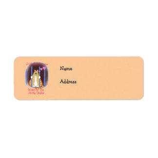 Shelter Cat Return Address Label