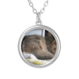 Shelter Cat Silver Plated Necklace