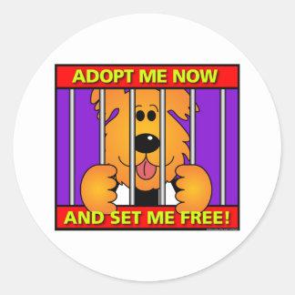 Shelter-Dog Classic Round Sticker