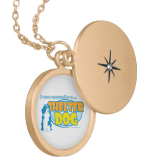 Shelter Dog Gold Plated Necklace
