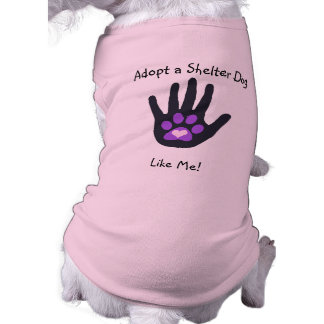 Shelter Dog Hand Paw Heart Customizable T-Shirt