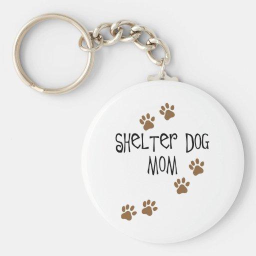 Shelter Dog Mom Basic Round Button Keychain