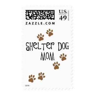 Shelter Dog Mom Postage Stamp