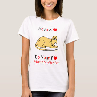 Shelter Dog Rescue Promotion for Animal Lovers T-Shirt
