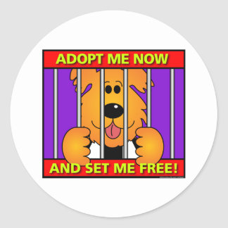 Shelter-Dog Round Stickers