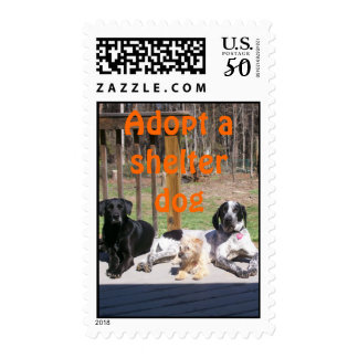 Shelter Dogs Postage