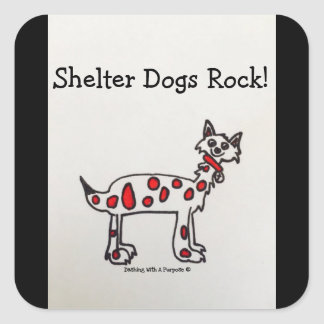 """""""Shelter Dogs Rock"""" Stickers"""