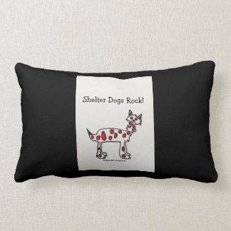 """Shelter Dogs Rock"" Throw Pillow"