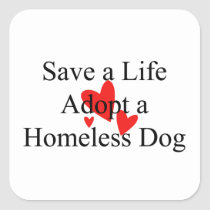 Shelter Or Rescue (Dog) Animal Rescue Stickers