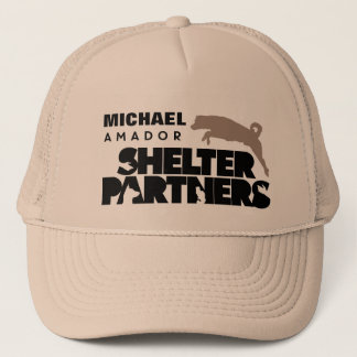 SHELTER Partners Logo Apparel Custom Name Trucker Hat