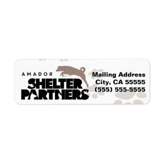 SHELTER Partners Logo Custom Return Address Label