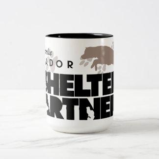 SHELTER Partners Logo Custom Two-Tone Coffee Mug