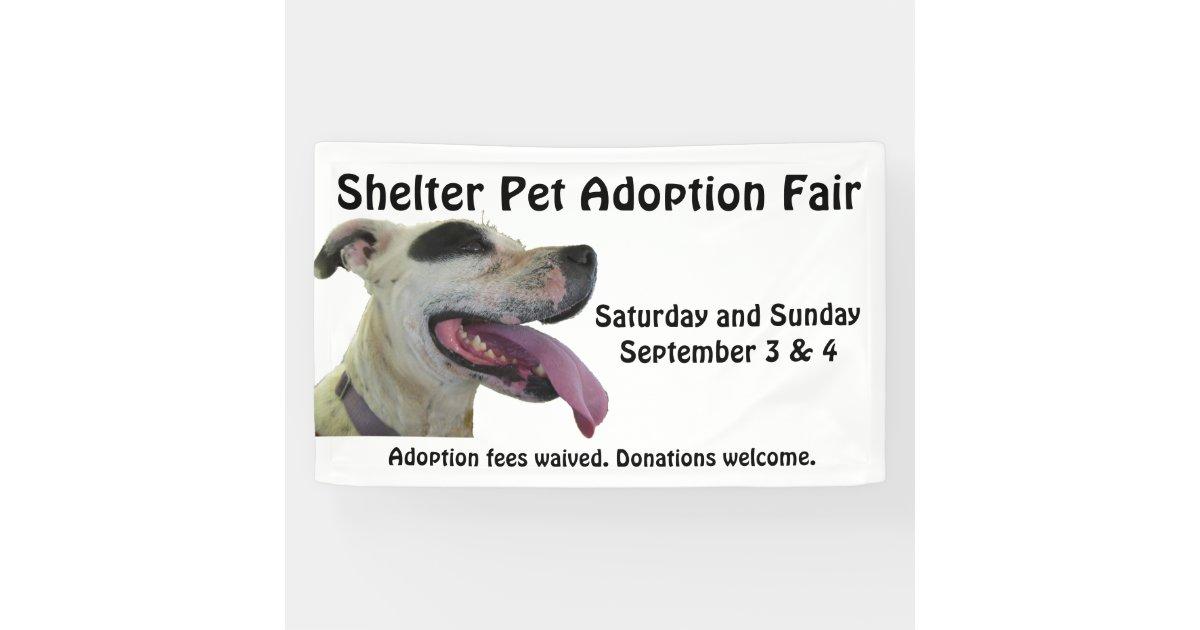 Shelter Pet Adoption Banner Zazzle Com