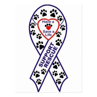 Shelter Pet Rescue Ribbon Postcard