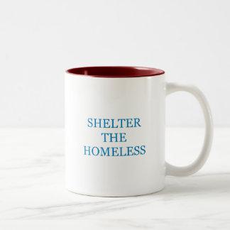 Shelter The Homeless Two-Tone Coffee Mug